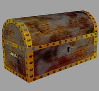 Old Dirty Low Poly Treasure Chest