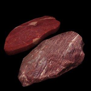 3ds raw beef steak