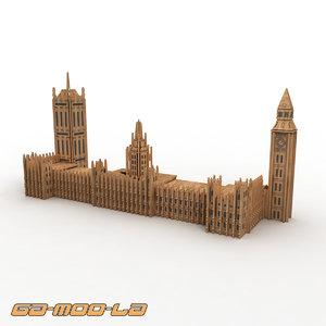 3d model big ben jigsaw puzzle