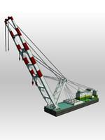 crane barge 3d 3ds