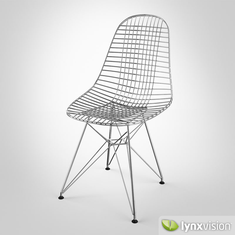 wire chair dkr 3d model