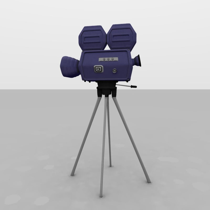 hollywood movie camera 3d model