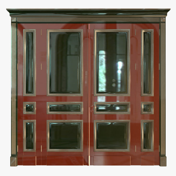 3d model classic wood door