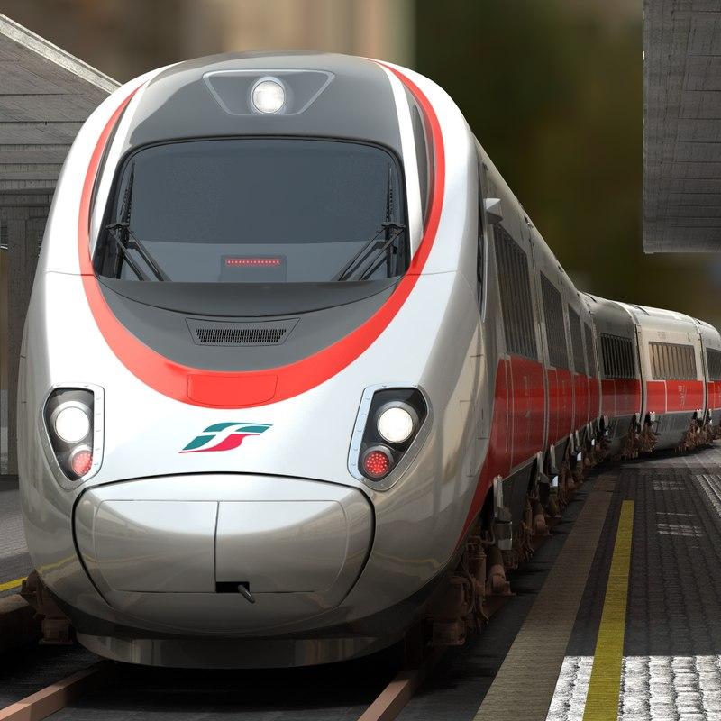 etr train 3d model