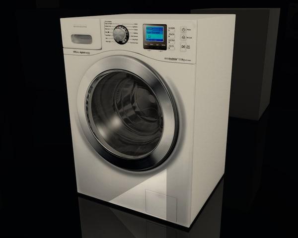 3d model washer interior design
