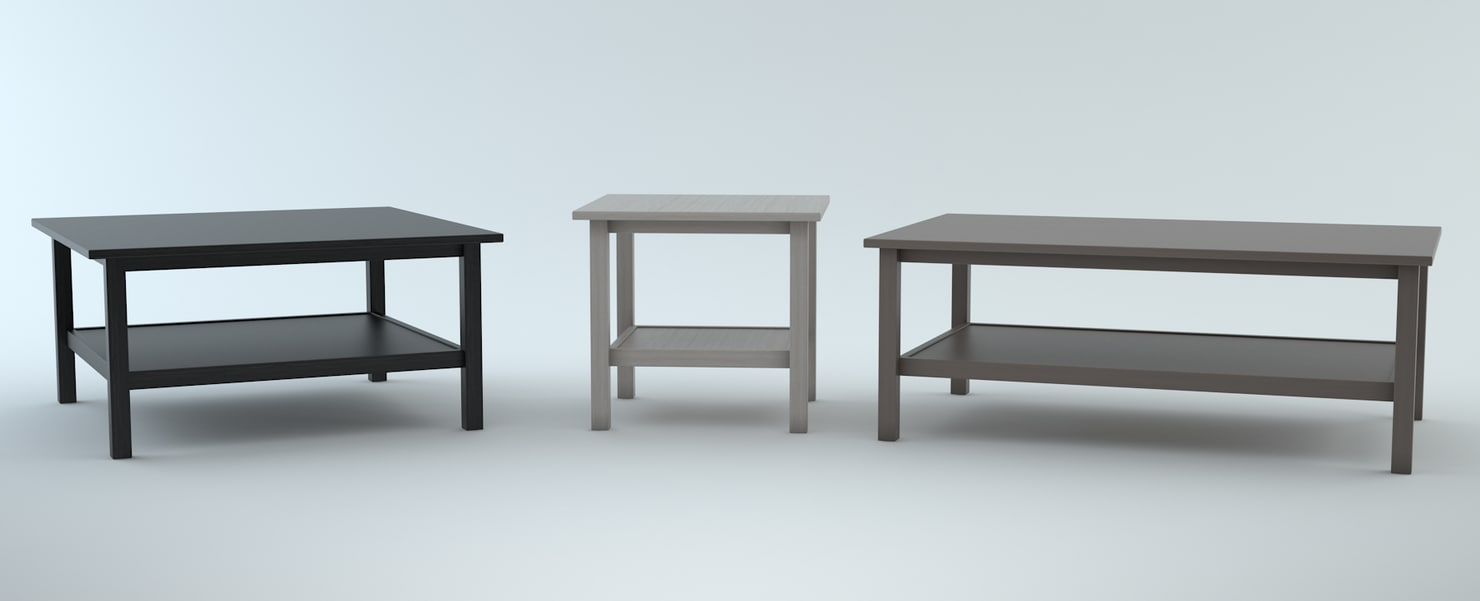 ikea hemnes coffee table 3d model