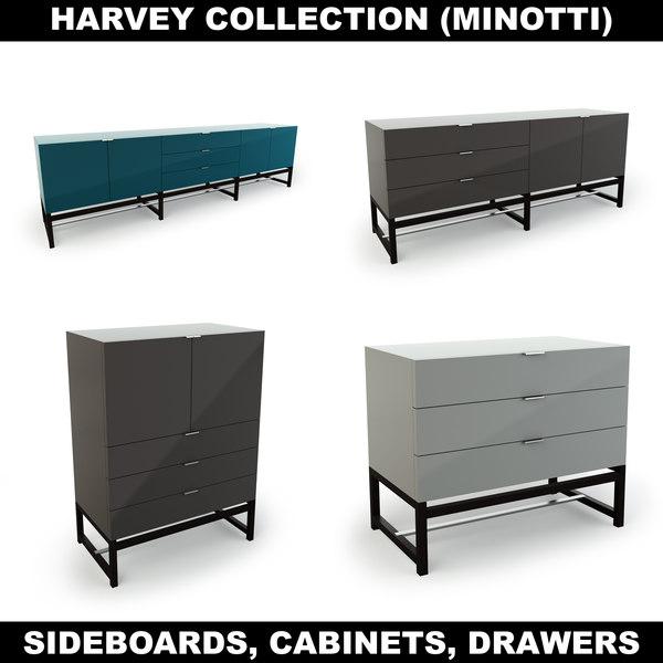 harvey cabinets 3d max
