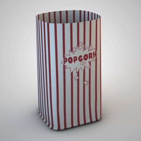 popcorn bag 3d 3ds