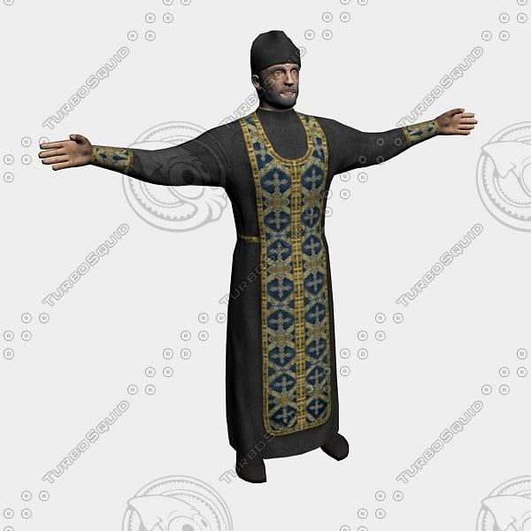 3d model priest