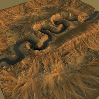 canyon terrain 3d model
