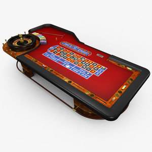 3d model of casino table -