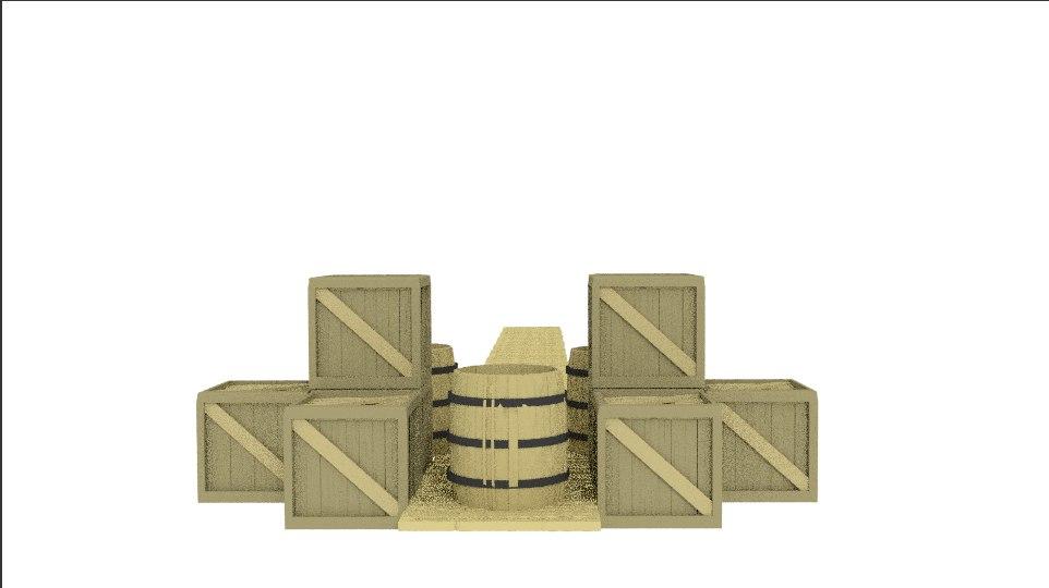 3d model cargo dock ships