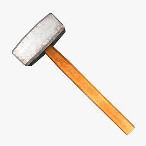 3d small sledge hammer
