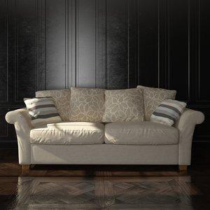sofa 3d 3ds