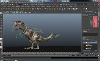 dinosaur rigged 3d model
