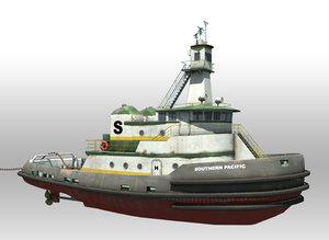 3ds max tug boat
