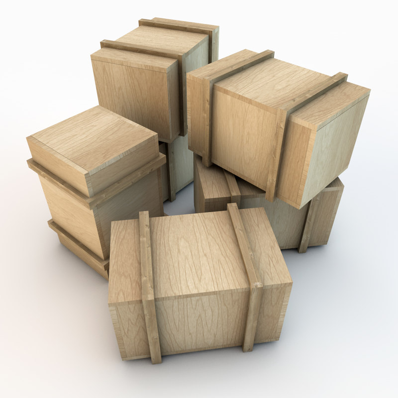 3d wooden crate 03 plank wood