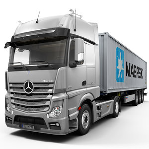 3d mercedes actros container model