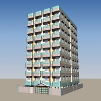 3d model apartment building