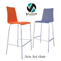 aria art 373 chair materials 3d model