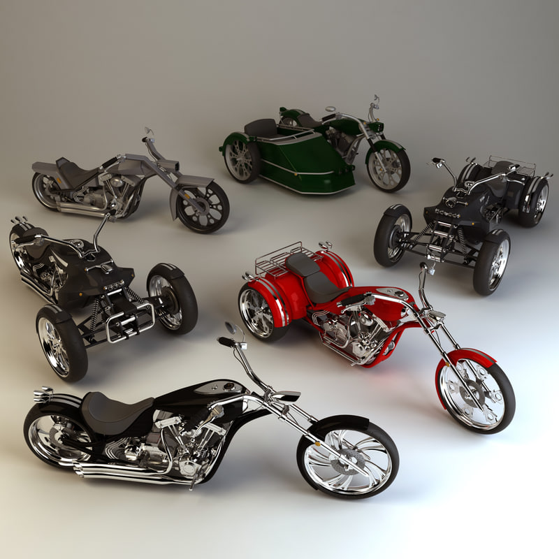 custom choppers 3d model