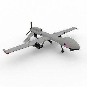 predator drone 3d max