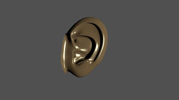 human ear obj free