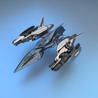 3d blend short space fighter