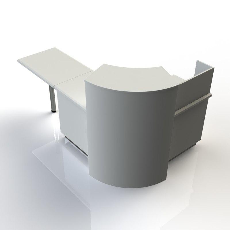 3d computer desk furniture table model