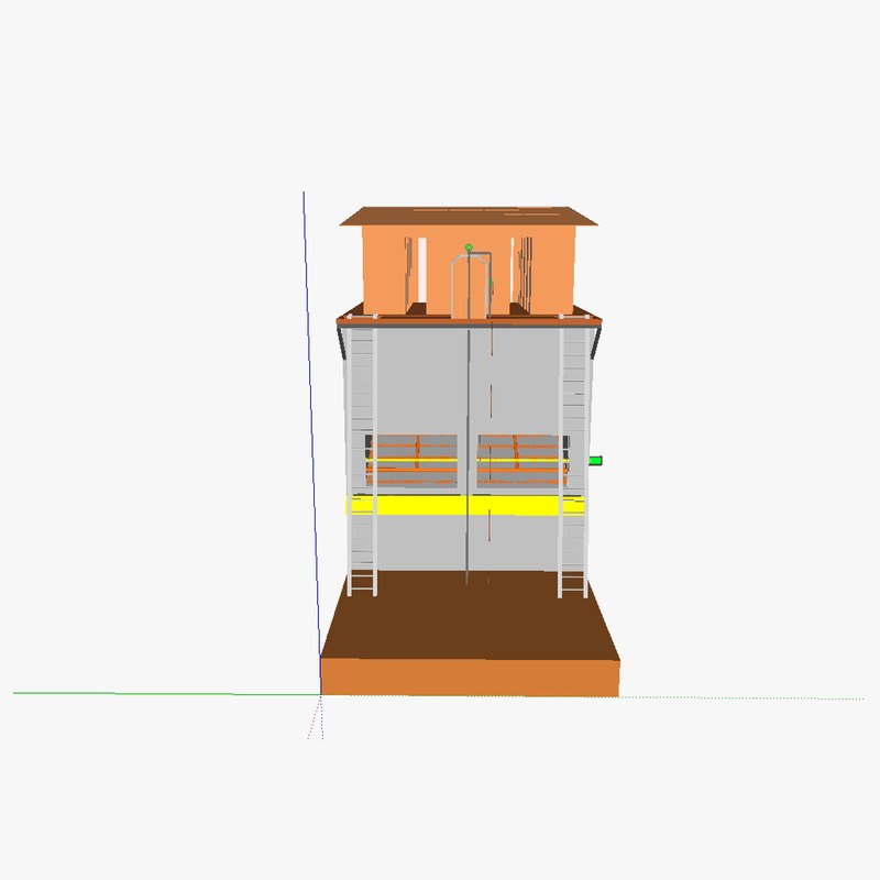 3d model composting toilet tower