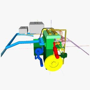 3d ic motor 1 diesel model