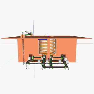 3d model modular kiln