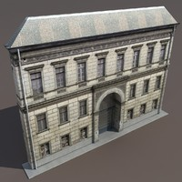 Apartment Building #120 Low Poly 3d Model