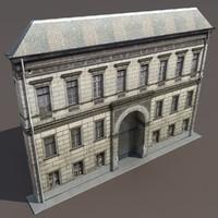 building exterior modelled 3d max