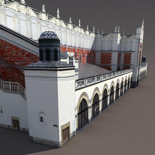 3ds max market krakow modelled