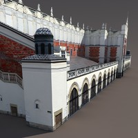 Krakow `Sukiennice` Hall Low Poly 3d Model