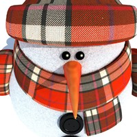 3dsmax snowman modelled