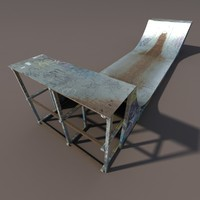 skate pipe modelled 3ds