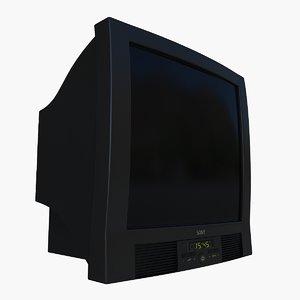 3d model of tv crt
