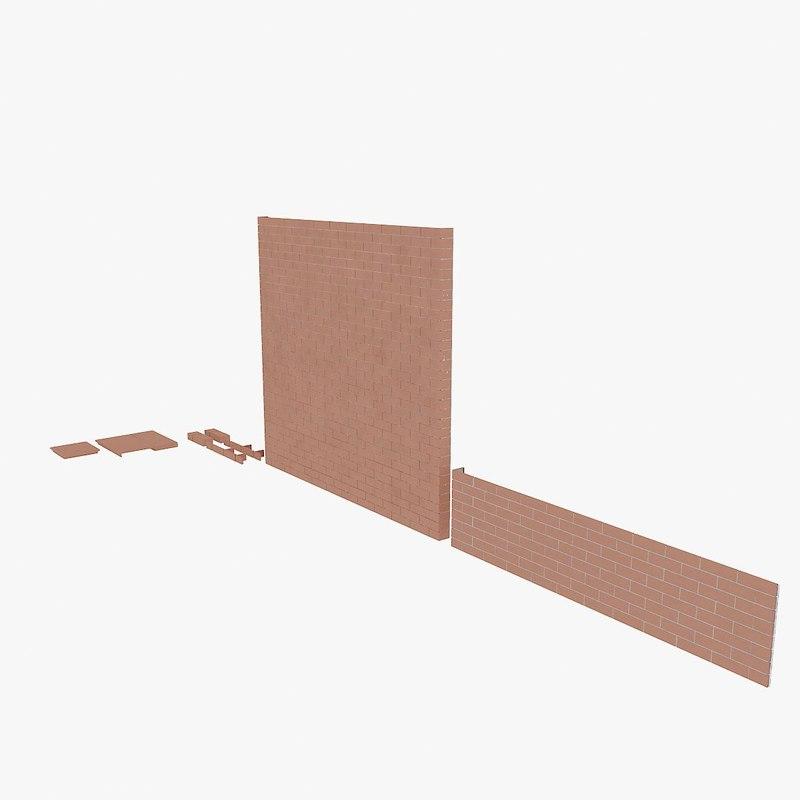 3d model stroher bricks pavements