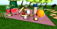 Lowpoly Cartoon Picnic Pack