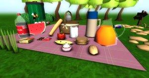 3d pack picnic model