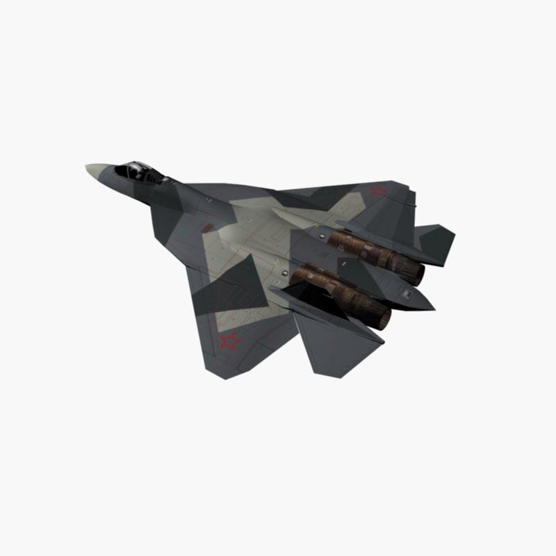 sukhoi jet fighter 3d model