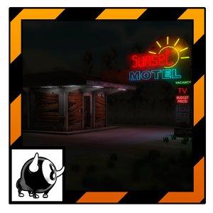 unity abandoned motel 3d model