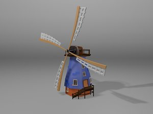 3d cartoonish windmill