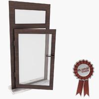 window wood 3d max