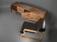 danish chair 3d max