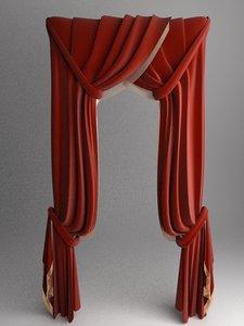 3d curtain elegant