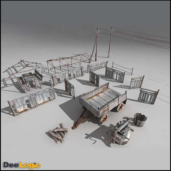3d village content model