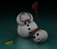 cinema4d snowman headless
